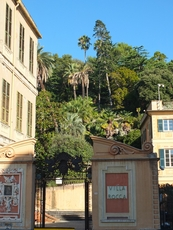 Villa Rocca with a nice park and museum in the center of Chiavari