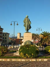 Monument of Christopher Columbus in Lavagna