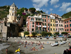 Little beach of Vernazza in the Cinque Terre