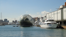 Biosphere at the old harbor of Genoa