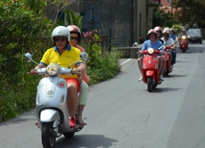 Vespa-Tour durch Ligurien