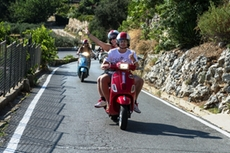 Vespa Tour with panoramic views in the Ligurian hinterland