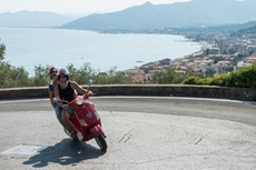 Spectacular views on the Ligurian sea during the Vespa-tour in the backland and mountains