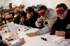 A funny evening with blind winetasting in Liguria